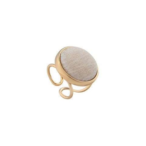 Кольцо Pearl Amazonite Beige 16.5 мм K0948.12 BR/G