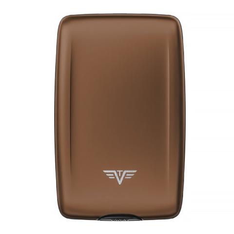 Кошелек c защитой Tru Virtu Oyster 2, кофейный, 110x69x28 мм