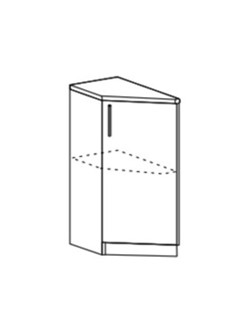 Шкаф нижний торцевой левый