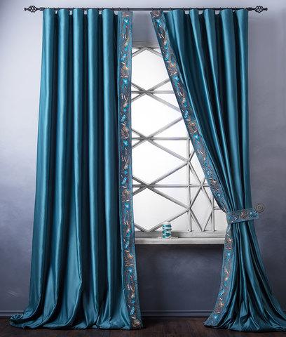 Комплект штор Форева бирюзовый