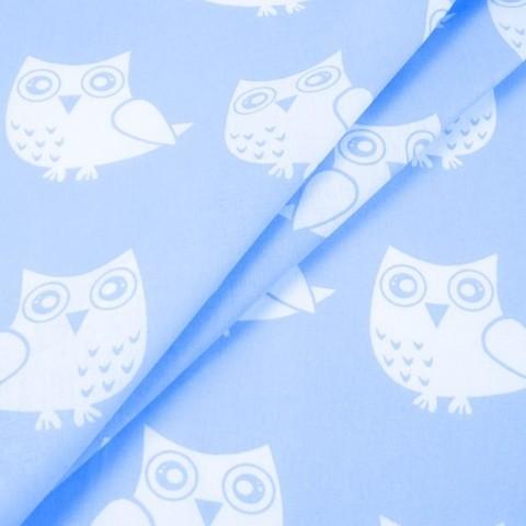 Бязь плательная 150 см 1682/3 цвет голубой