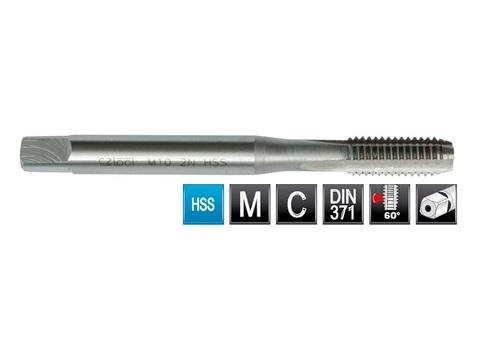 Метчик М3х0,5 (Машинный) DIN371 2N(6h) C/2P HSS L56мм Bucovice(CzTool) 101030