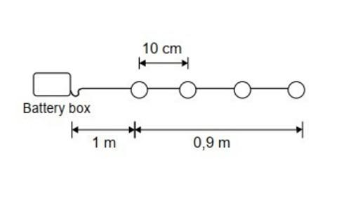 Гирлянда с белыми шариками на батарейках Luca Lighting теплый белый свет (10 ламп, длина гирлянды 90 см)