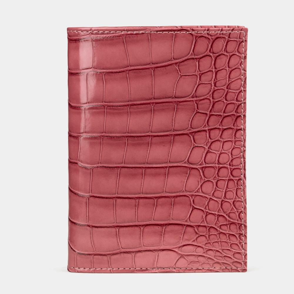 Special order: Обложка для паспорта и автодокументов Paris Premium из натуральной кожи крокодила