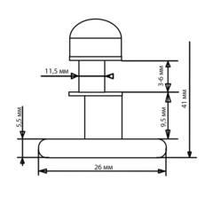 Ролик для душевой кабины X-06-A 26 мм (рис.4)