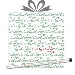 Бумага тишью Зимний автограф 0.7*10 м, 1 рулон.