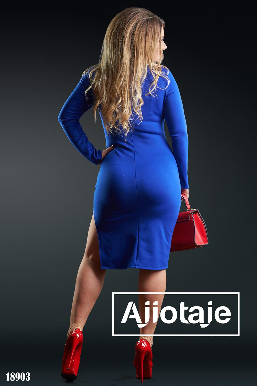 Платье с имитацией болеро цвета электрик