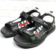 Сандали босоножки мужские Nike 40-3 Leather Black.