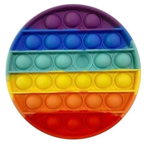Поп Ит Игрушка антистресс Вечная пупырка Попит 12,5 х 12,5 см разноцветный круг POP IT