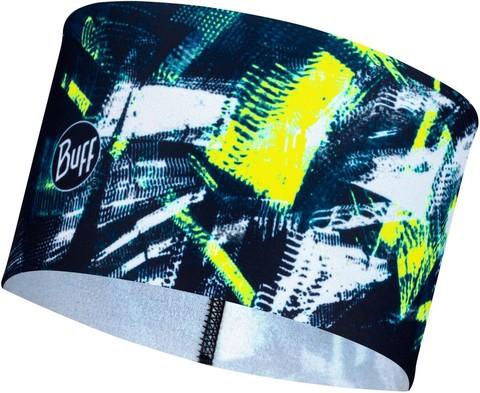 Теплая спортивная повязка на голову Buff Headband Tech Fleece Sineki Blue фото 1