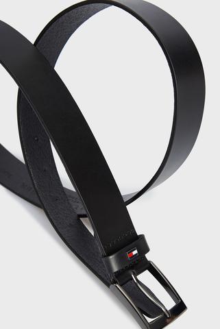 Мужской черный кожаный ремень ADAN LEATHER 3.5 Tommy Hilfiger