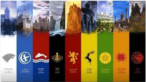 Постер Арт Игра Престолов Гербы — Poster Art Game of Thrones