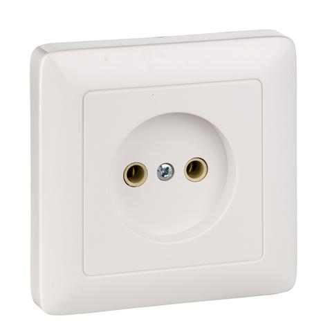 Розетка электрическая без заземления 10 А 250 В. Цвет Белый. Schneider Electric(Шнайдер электрик). Hit(Хит). RS10-132-B