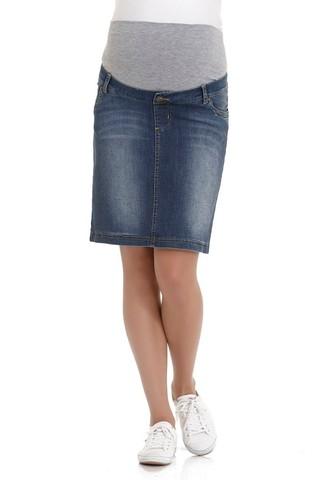 Юбка для беременных джинсовая 06529 синий