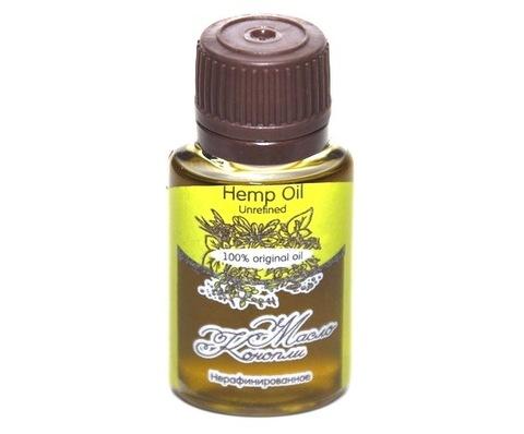 Масло КОНОПЛИ/ Hemp  Oil  Unrefined / нерафинированное, 20 ml