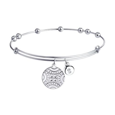 94050635 - Браслет из серебра с подвеской монетка
