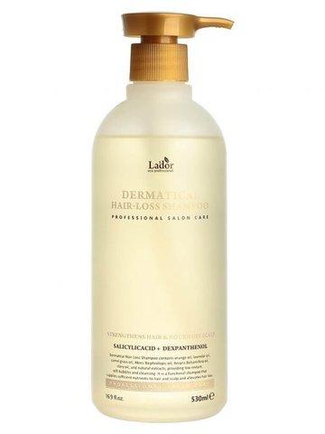 Шампунь против выпадения волос La'dor Dermatical Hair Loss Shampoo 560мл (бессульфатный)