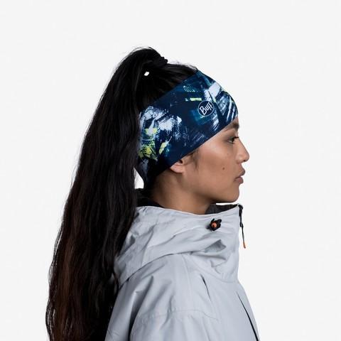Теплая спортивная повязка на голову Buff Headband Tech Fleece Sineki Blue фото 2