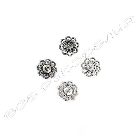 Кнопка ажурная, металл 03-33-0024-03(02)