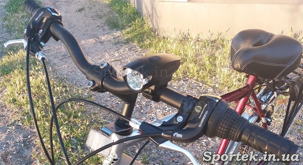 Передній трьохрежимний велосипедний ліхтар (KK-800) на кермі