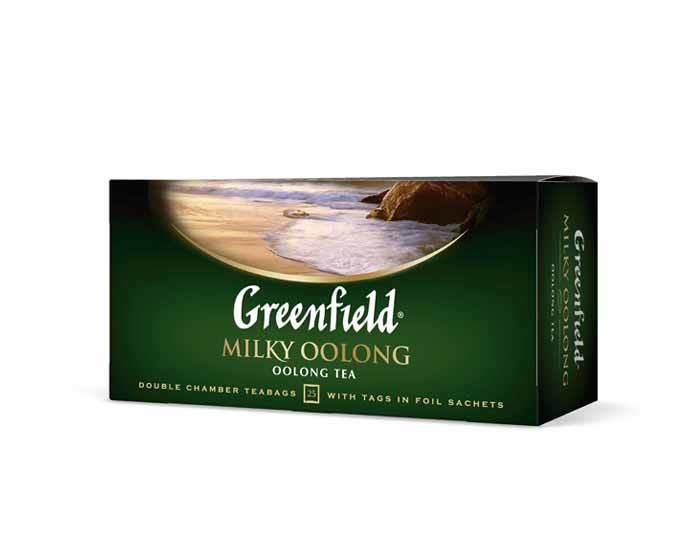 Чай черный в пакетиках из фольги Greenfield Milky oolong, 25 пак/уп
