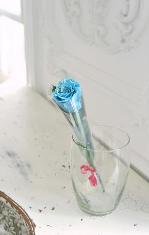Роза на стебле Premium Оптом Высота*Бутон (37см*5-6см) Цвет голубой
