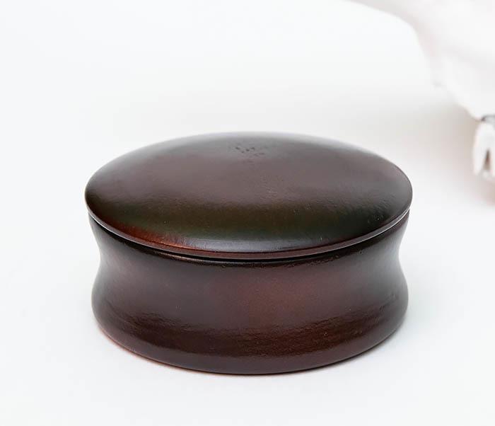 RAZ493 Деревянная чаша для бритья с крышкой фото 04