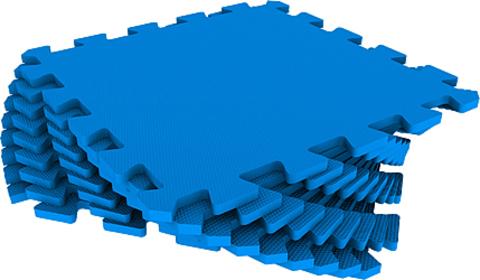 Набор мягких плиток 30*30 см. Синий. Коврики-пазлы.