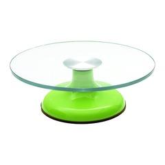 Столик поворотный стеклянный для торта D30 H9 см