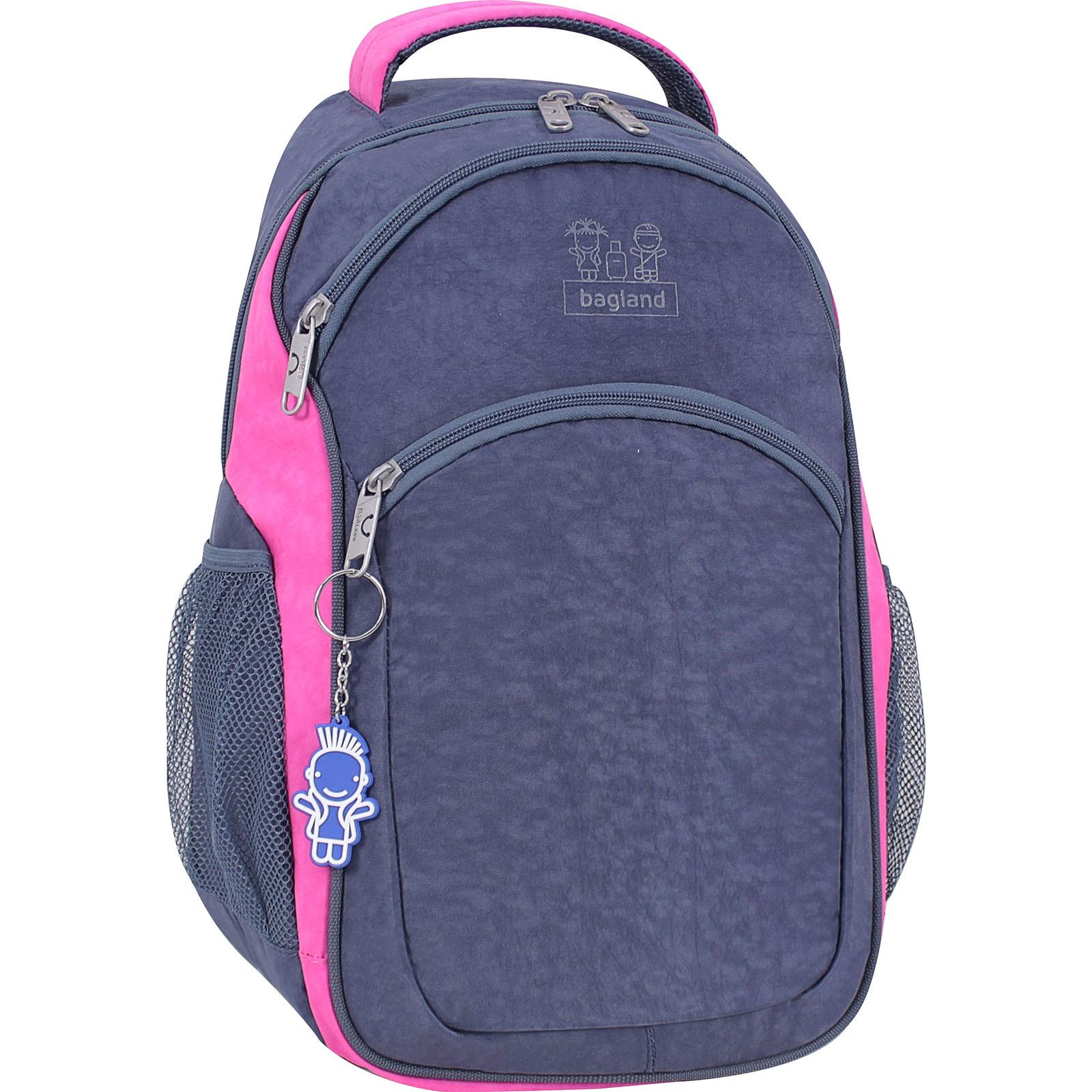 Городские рюкзаки Рюкзак Bagland Лик 21 л. Серый/розовый (0055770) IMG_3497.jpg
