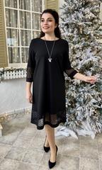 Марьям. Коктейльне плаття з блискучою сіткою. Чорний