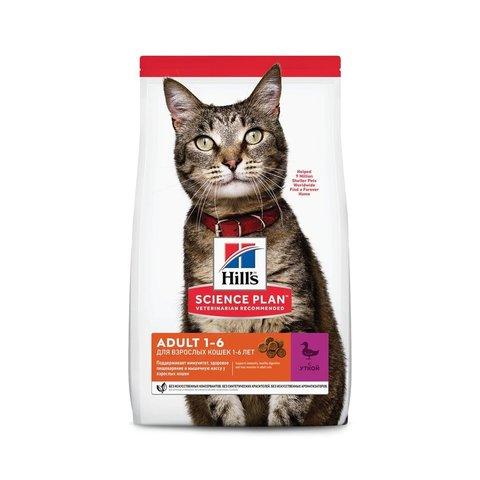 Сухой корм Hill's Science Plan для взрослых кошек для поддержания жизненной энергии и иммунитета, с уткой