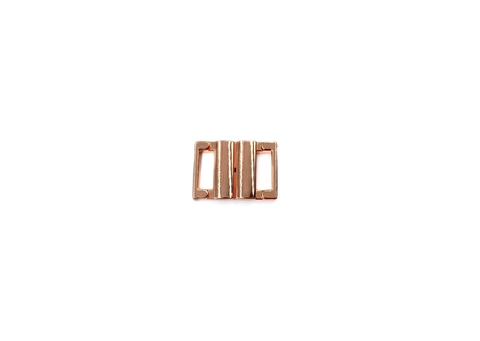 Застежка металл 10 мм розовое золото