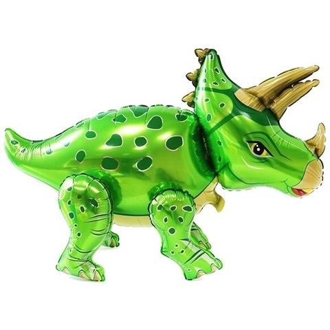 Фигура Динозавр Трицератопс салатовый, 91 см