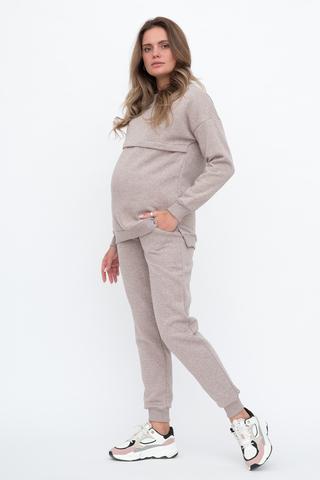 Утепленный спортивный костюм для беременных и кормящих 12080 меланж