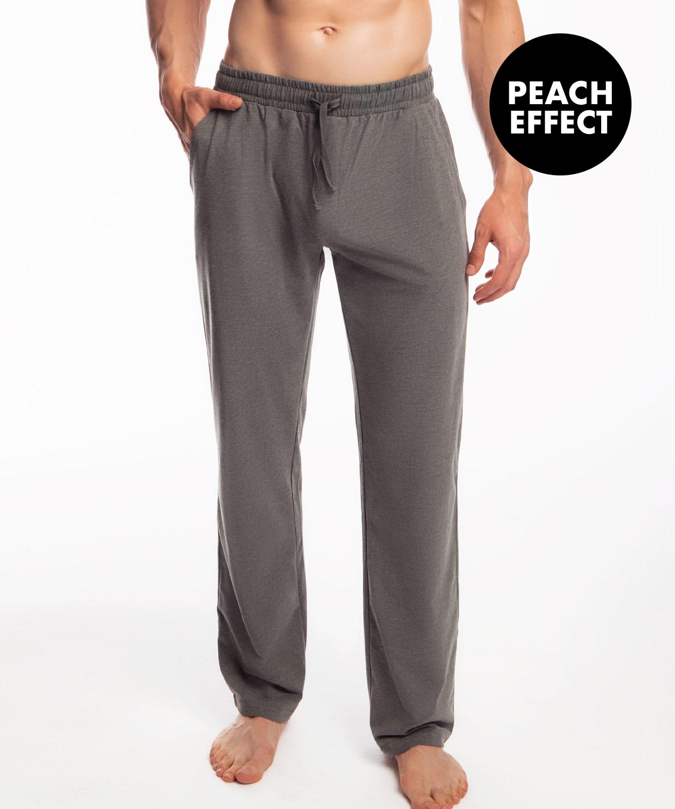 Мужские штаны пижамные Atlantic, 1 шт. в уп., хлопок, темно-серый меланж, NMB-040