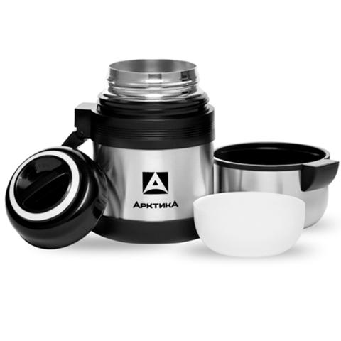 Термос универсальный (для еды и напитков) Арктика (0,6 литра) с широким горлом, стальной
