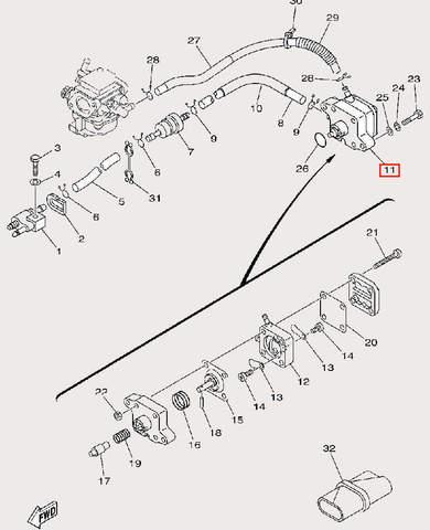 Насос топливный в сборе для лодочного мотора F9,9 Sea-PRO (9-11/22)