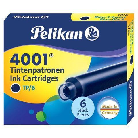 Картридж Pelikan INK 4001 TP/6 (PL301184) Blue-Black чернила для ручек перьевых (6шт)