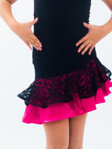 Одежда для танцев девочкам, юбка с трусиками