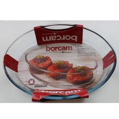 Овальная форма для запекания 1,5 литра Borcam 59084 форма для выпечки жаропрочная стеклянная 26х18х6 см рубашка