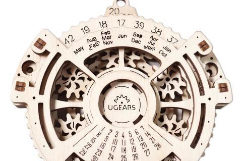 Навигатор дат (Ugears) - Деревянный конструктор, сборная модель, 3D пазл, календарь