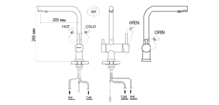Схема Omoikiri Nagano