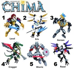 Minifigures Legends of Chima Blocks Building Series 02