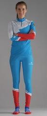 Детский Раздельный лыжный гоночный комбинезон NordSki Premium Blue Rus 2020
