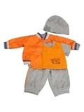 Костюм с бомбером из плащевки - Оранжевый. Одежда для кукол, пупсов и мягких игрушек.