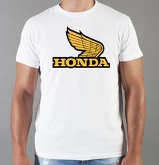 Футболка с принтом Honda (Хонда) белая 0016