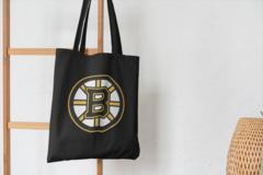 Сумка-шоппер с принтом Бостон Брюинз (NXL Boston Bruins) черная 001