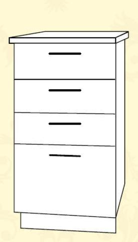 Империя СЯ 400 Шкаф нижний с ящиками