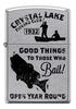 Зажигалка Zippo Vintage Fishing, латунь/сталь с покрытием Street Chrome, 36x12x56 мм